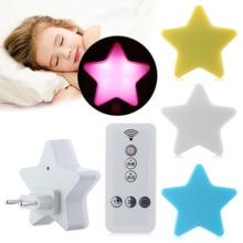 Pentagram-Lamp Night-Light-Sensor Bedroom-Decor Star Kids Gift Baby Mini for Control