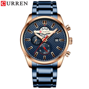 Image 2 - CURREN Fashion Creative Chronograph Men Watches Sports Business Wrist Watch Stainless Steel Quartz Male Clock Reloj Hombre