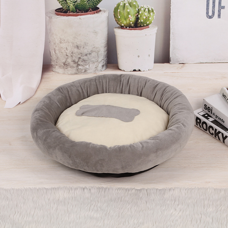 Dog Kennel Round Dog Bed for Small Medium Dog Pet Beds Waterproof Cat Sofa Fluffy Dogs House Small Pet Puppy Bed Round Beds 3