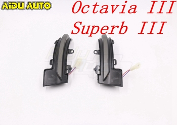 AIDUAUTO FOR skoda Octavia Superb mk3 Dynamic Blinker LED Turn Signal Light Mirror Indicator Sequential