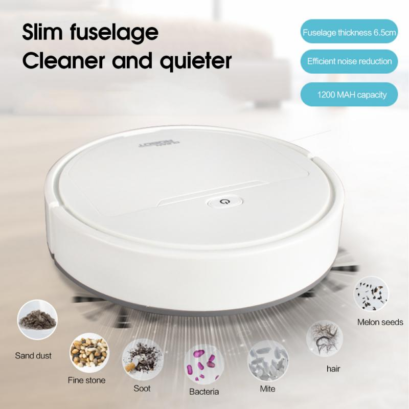 3-In-1/4-In-1 Smart Sweeping Robot Vacuum Cleaner Floor Edge Dust Clean Auto Suction Sweeper Multifunctional Robot