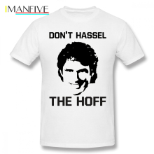 Baywatch T Shirt Don HASSEL The HOFF T-Shirt Casual Print Tee Mens 100 Cotton Short Sleeves Plus size  Fun Tshirt