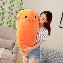 Креативная игрушка 55-95 см, плюшевая морковка, Мягкая Реалистичная кукла с пухом, хлопковая Милая Подушка для детей, подарок для девочек