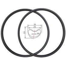 販売 29er ライト xc 非対称 hookless mtb カーボンリム 30 ミリメートル幅 24 ミリメートル深さ 2.6 ミリメートルオフセットマラソンチューブレスマウンテンバイクホイール