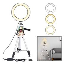"HobbyLane 7.9 ""Dimmbare LED Kamera Ring Licht mit Telefon Halter mit 3 Licht Modi & 11 Helligkeit Ebene für video/Make-Up d29"