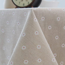 Bege margarida toalha de mesa moderno e minimalista pequeno fresco mesa de jardim mesa mesa de mesa mesa de café do hotel toalha de mesa