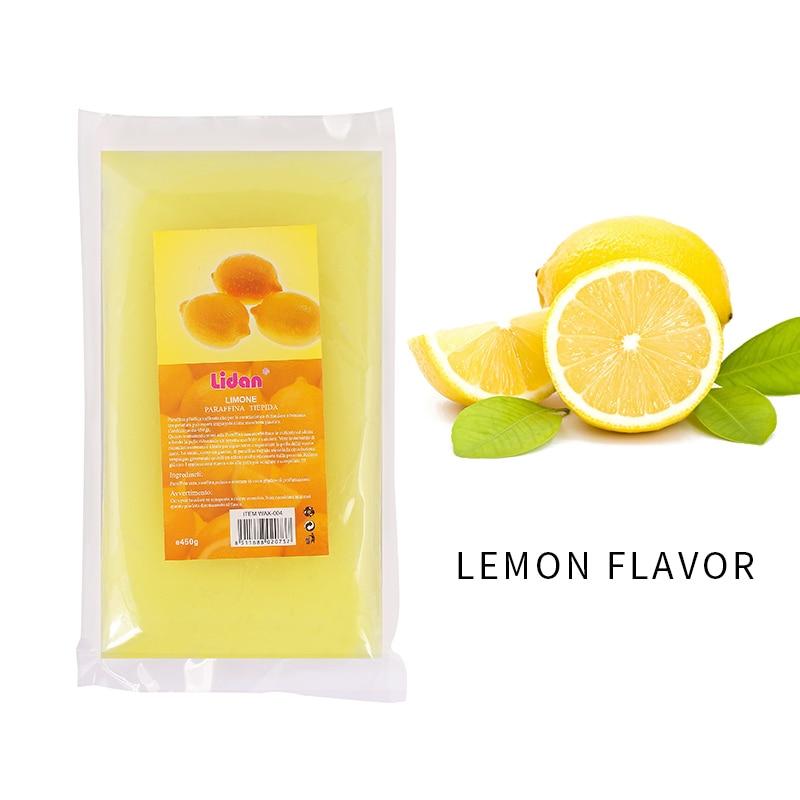 Lidan 450g rosa pesca limone lavanda odore paraffina cera bagno strumento per Nail Art per unghie mani maschera bagno di paraffina cura della pelle 6