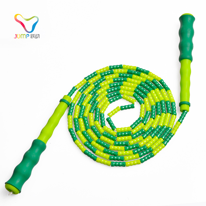Pattern Sports Bamboo Joint Adult Children Fitness Jump Rope For Both Men And Women Plastic Beads Section Lanyard Beginner Jump