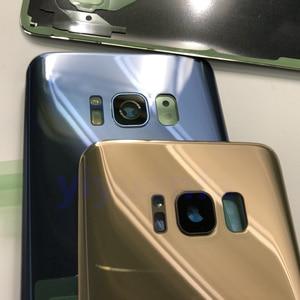 Image 2 - S8 Original Habitação Porta Da Bateria Tampa Traseira de Vidro de Substituição Para Samsung Galaxy S8 G950 G950F G950FD SM G9500 + Cola À Prova D Água
