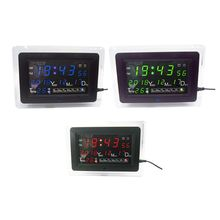 ECL 1227 elektronik saat DIY kiti takvim sıcaklık göstergesi LED dijital Panel