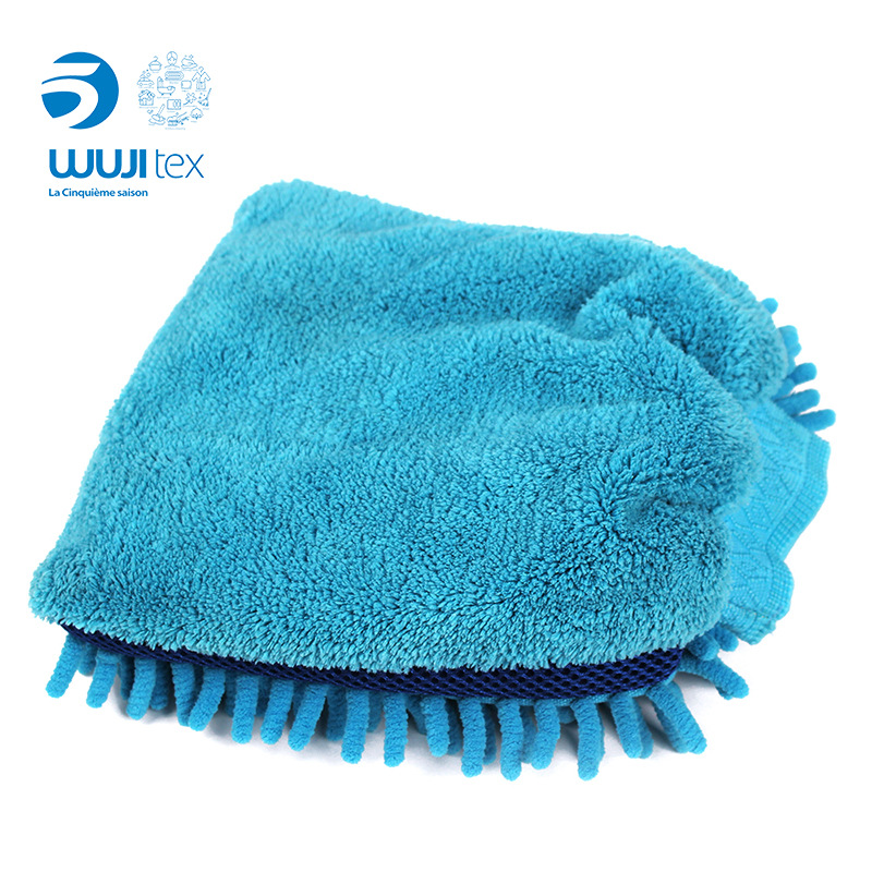 Wuji Chenille Home Cleaning Gloves Wipe A Car Vehicle Cleaning Soft Absorbent Tool