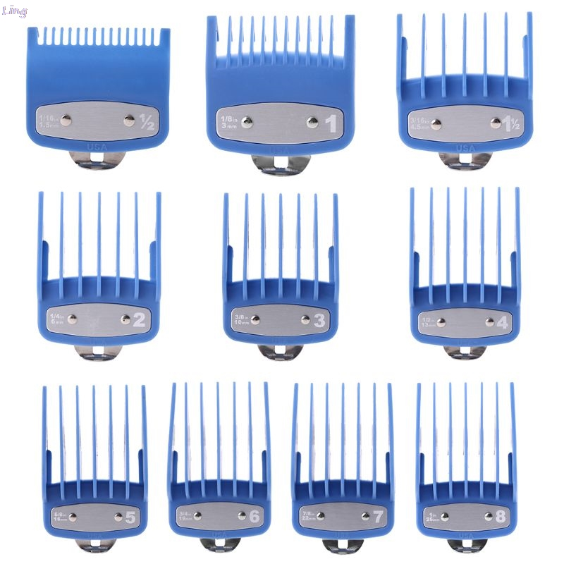 1PC/2PCS New Multicolor Professional Cutting Guide Comb Hair Clipper Limit Comb With Metal Clip