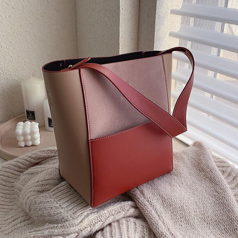 Female Casual Big Tote New Quality PU Leather Women's Designer Handbag High Capacity Patchwork Ladies Shoulder Messenger Bags