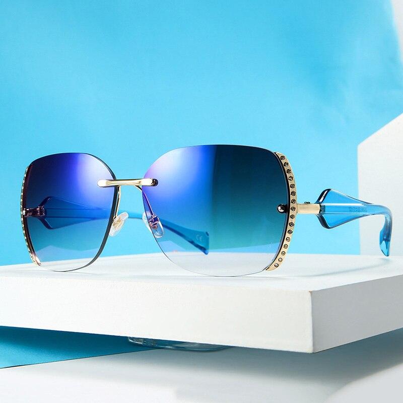 Женские солнцезащитные очки больших размеров, роскошные брендовые солнцезащитные очки с бриллиантами, женские винтажные Ретро очки без