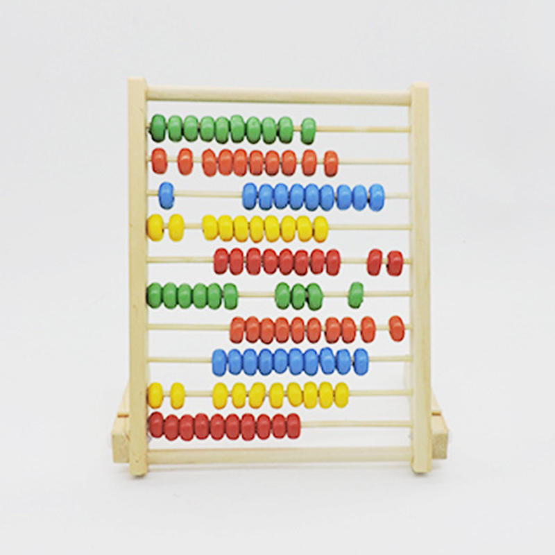 Child Wooden Abacus Toys Calculat Bead Counting Intelligence Development Early Math Educational Learning Toy Color Random
