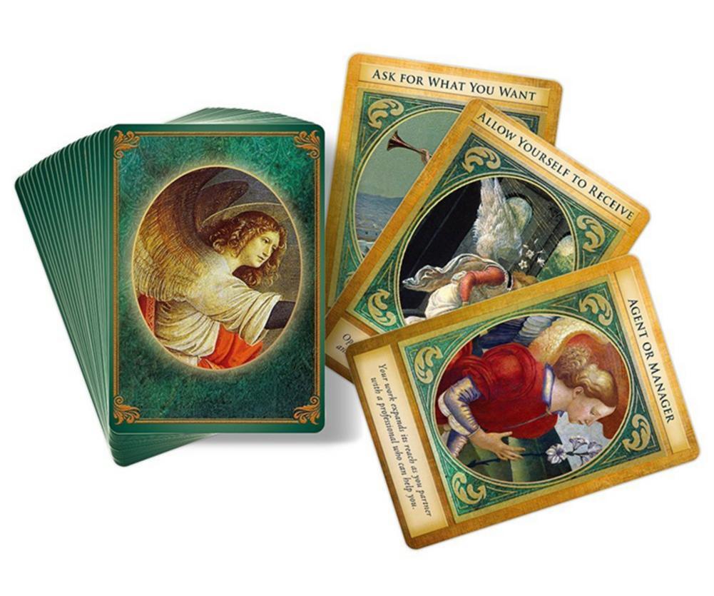 44PCS Archangel Gabriel Oracle Cards Tarot Cards English Version Game For Archangel Gabriel Oracles Deck Tarot Card Board Games