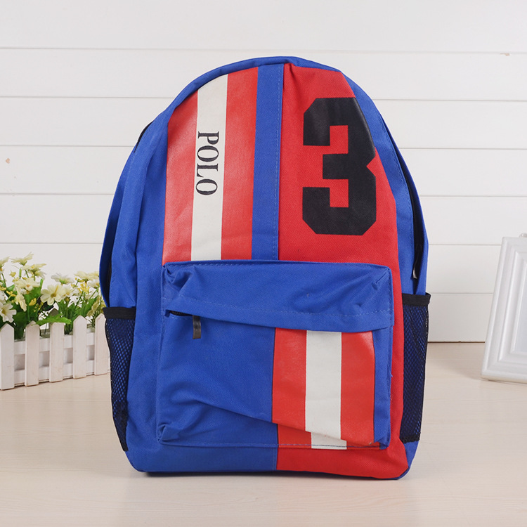 New Style Student Backpack Casual Solid Color Canvas Backpack Fashion Schoolbag