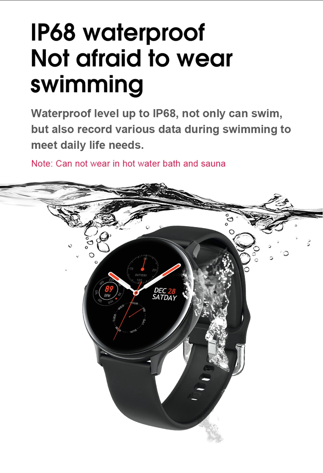 LEMFO Smart Watch Men IP68 Waterproof Heart Rate Blood Pressure Monitor  Smartwatch Women 2020 Changeable Watch Face for Android