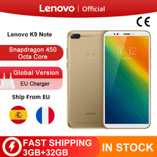 Globale Version Lenovo K9 Hinweis 3GB 32GB 6 zoll Smartphone Snapdragon Octa Core Gesicht ID Android 8,1 16MP kamera 3760mAh Batterie