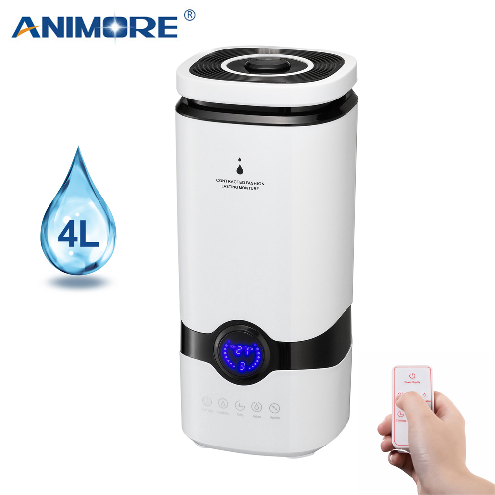 ANIMORE Humidifier 4L Top Fill Essential Oil Aroma Diffuser Air Humidifier Cool Mist Ultrasonic With Intelligent Remote Control