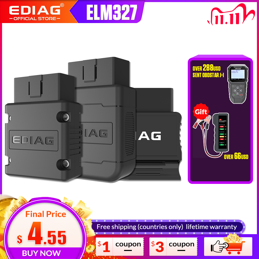 ELM327 V1 5 Bluetooth WIFI PIC18f25k80 4MHz EDIAG P01 OBD2 Car Diagnostic Tool OBDII Code Reader For Android IOS pk ICAR2 KW902