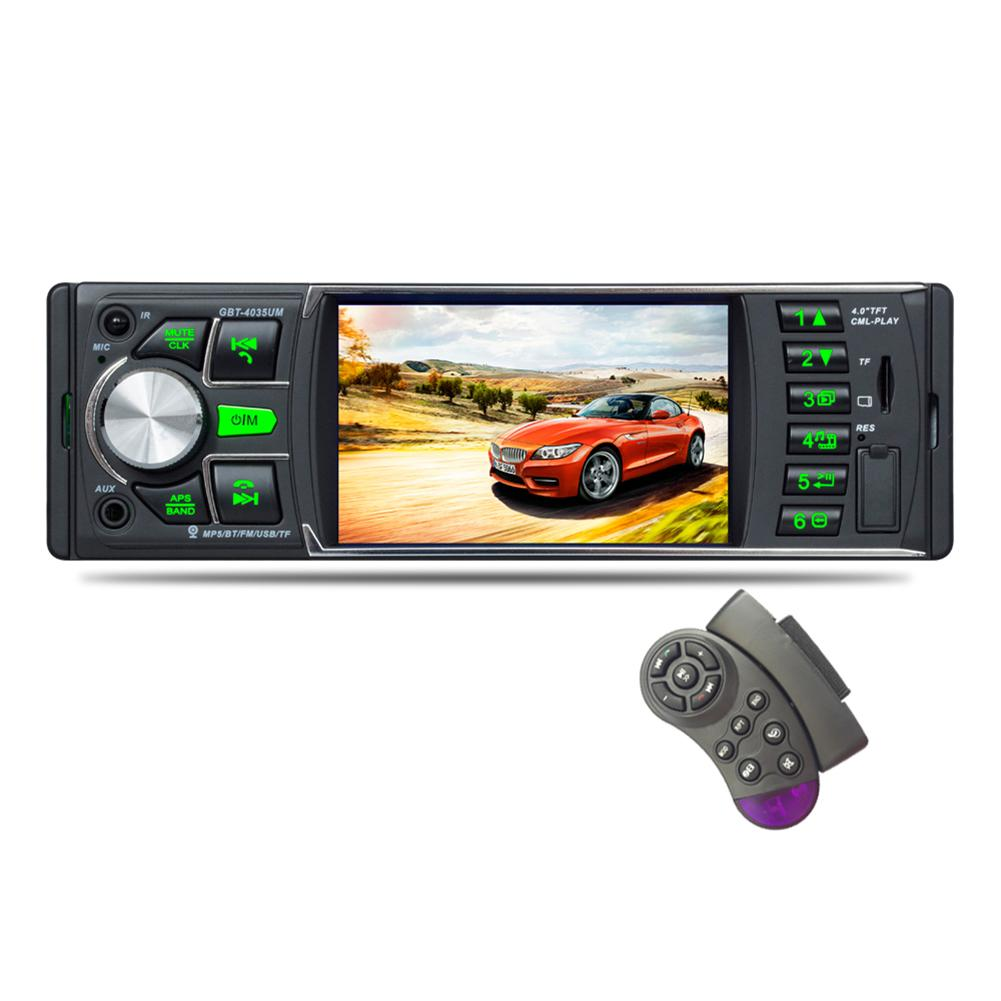1 Din Auto Car Radios 4.0 Inch Video Mp5 Player Car FM Radio LCD Display Audio MP3 Player With Remote Control Car Accessories image