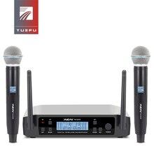 Yuepu RU D220 Uhf Handheld Karaoke Microfoon Draadloze Professionele Systeem 2 Kanaal Frequentie Verstelbare Cordless Voor Kerk