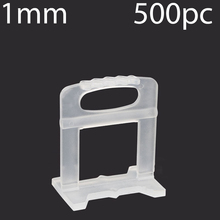 500Pcs 1mm leveling Base Tile Levelling Spacers Flooring Tiling Tool For Suit  Household System Floor Tile Kits Tools