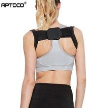 Aptoco cinturón de espalda soporte de la espalda cinturón de hombro Corrector rectificar la corrección de la postura Corrector ortopédico de la espalda