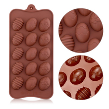 Easter Egg Chocolate Mold Easter Candy Cookie Mould Silicone Baking Mold for Party Jelly Ice Cube Fondant Silicone Molds