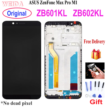Original 5.99 LCD for Asus ZenFone Max Pro M1 ZB601KL ZB602KL LCD Display Touch Screen Digitizer Assembly with Frame X00TD Tool original 5 5 for asus zenfone 4 max zc554kl lcd display touch screen digitizer replacement parts zenfone 4 max zc554kl x001d