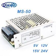 DIANQI Mini boy anahtarlama güç kaynağı ayarlanabilir 12V çıkış gerilimi 50W ac dc regülatörü ms-50 15V 5V 24V