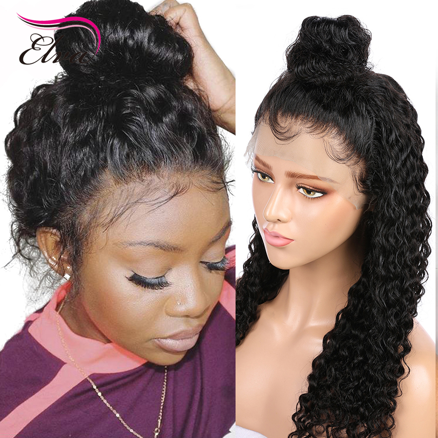 Elva Hair 13x6 Fake Scalp Wig Lace Front Human Hair Wigs Pre Plucked With Baby Hair Brazilian Remy Hair Wigs For Black Women