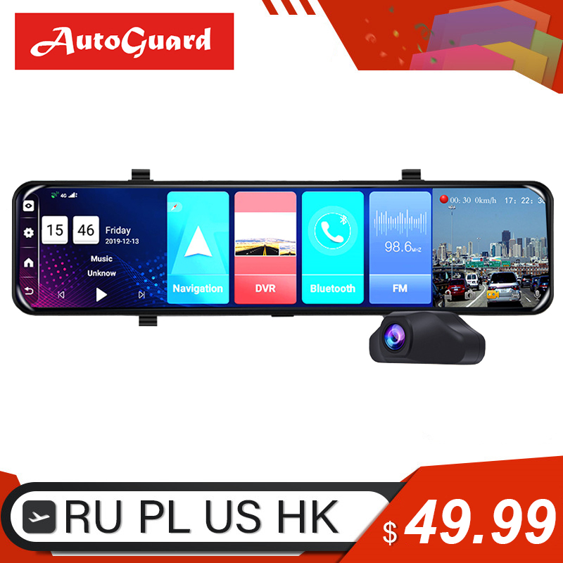 12 Inch 4G Android 8.1 <font><b>Car</b></font> <font><b>DVR</b></font> Dash <font><b>Camera</b></font> <font><b>ADAS</b></font> FHD 1080P <font><b>Car</b></font> Video Recorder Dual Lens GPS WiFi Dash Cam <font><b>Rearview</b></font> <font><b>Mirror</b></font> image