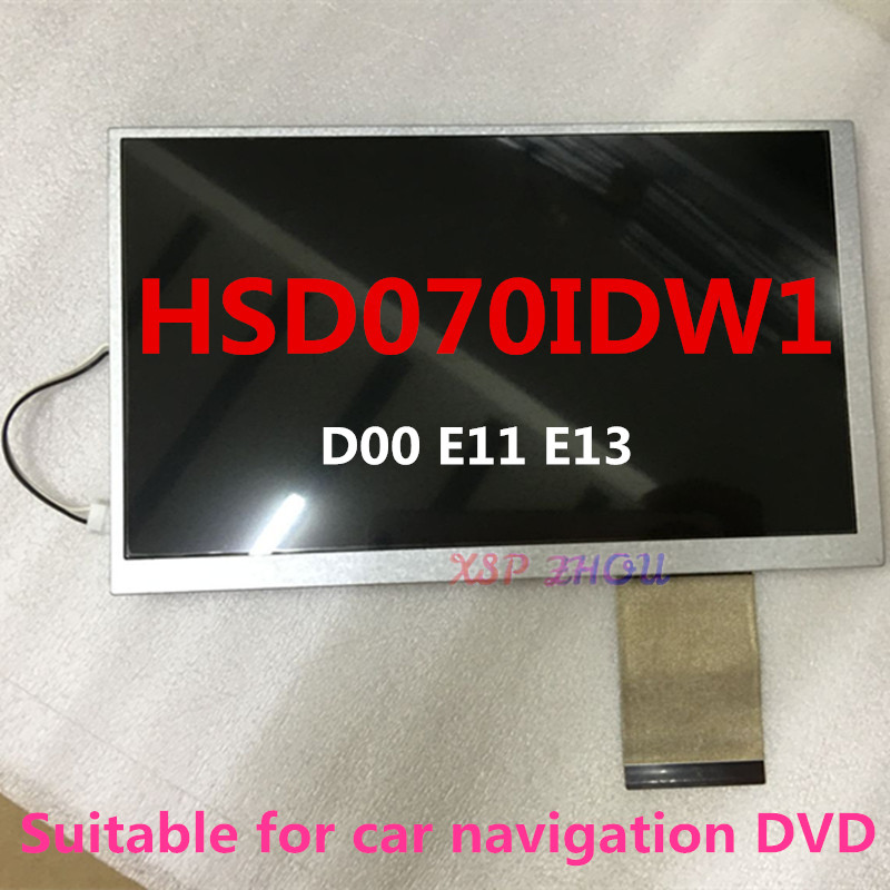 Original 7 Inch LCD Monitor Color HSD070IDW1 - D00 E11 E13 Car Navigation DVD Screen + Touch Free Shipping