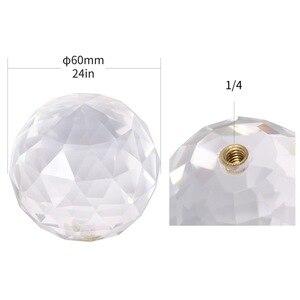 Image 5 - 3 ב 1 Vlogger צילום קריסטל כדור אופטי זכוכית קסם תמונה כדור עם 1/4 זוהר אפקט דקורטיבי צילום סטודיו