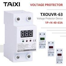 Voltage-Protect-Device with Digital-Display 220V 230V 240V 250V Used House Loss Over under Low Voltage Protector new original kyocera 302s094100 unit low voltage 230v for m2135 m2635 m2735 m2040 m2540 m2640