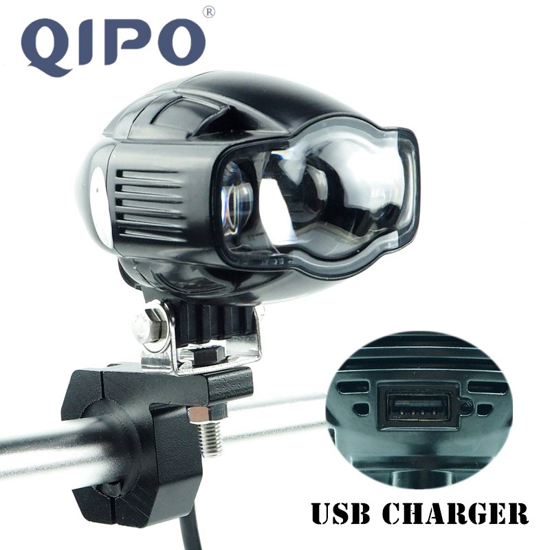 QIPO Motorcycle scooter headlight lamp external auxiliary USB mobile - Motorcycle Accessories and Parts