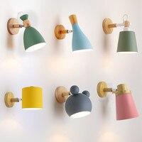 Vários estilos de lâmpadas LED luzes de parede de madeira de madeira de alumínio sala de Jantar-sala de estar corredor CONDUZIU a iluminação Interior luminária