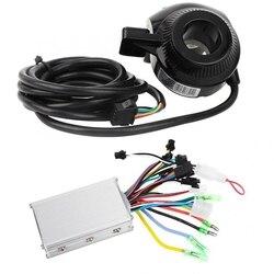 36V 48V 350W elektryczny silnik rowerowy bezszczotkowy kontroler Panel wyświetlacza LCD Thumb przepustnicy skuter bezszczotkowy kontroler zestaw sterowniczy (36V)