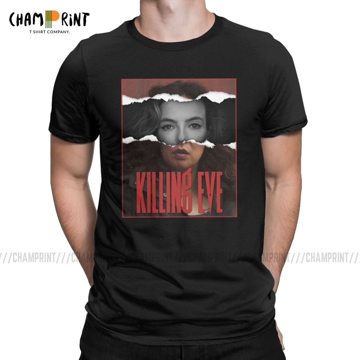 VillanEve T Shirts For Men Cotton Funny T-Shirt Crew Neck Killing Eve Tee Shirt Short Sleeve Clothing Gift Idea