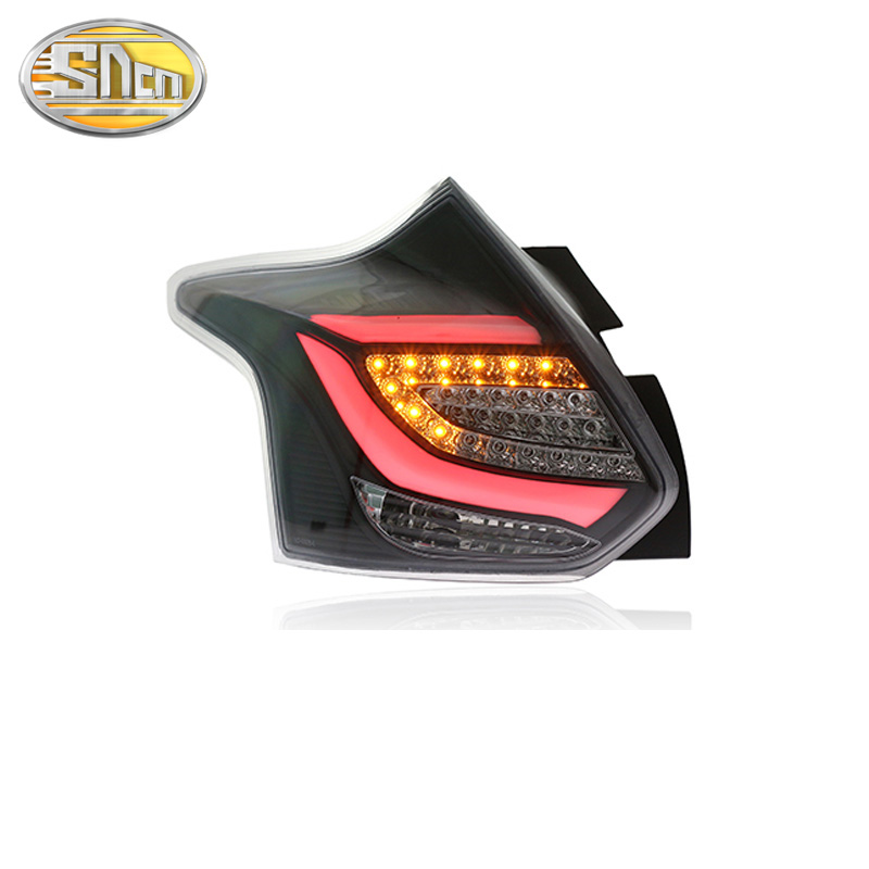 Car LED Tail Light <font><b>Taillight</b></font> For <font><b>Ford</b></font> <font><b>Focus</b></font> Hatchback 2012 2013 2014 LED Rear Fog Lamp + Brake Light + Reverse + Turn Signal image