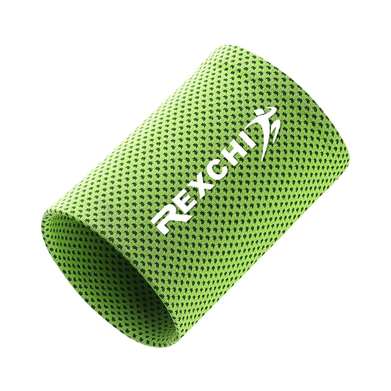 New 1 Pcs Wrist Brace Support Breathable Ice Cooling Sweat Band Tennis Wristband Wrap Sport Sweatband For Gym Yoga Volleyball