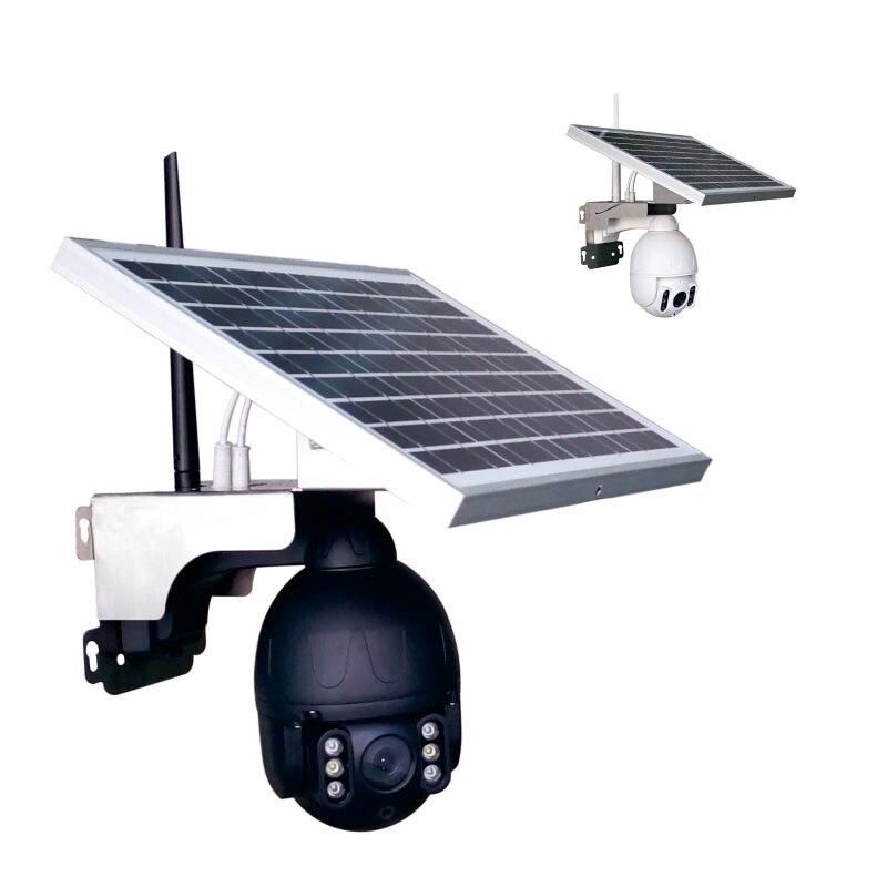 Câmera solar de 1080 p ptz com painel solar P20S-Wi-Fi de 25 w