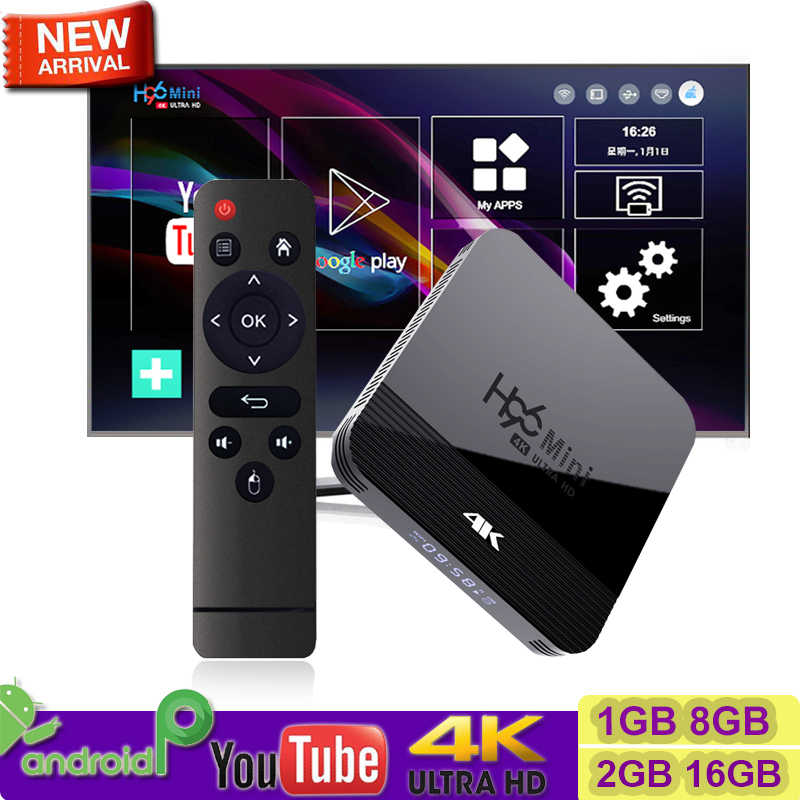 Nieuwe Aankomen H96 mini H8 4K OTT Doos 2GB DDR3 16GB Rom android 9.0 tv box 2.4 g/5G WiFi BT4.0 youtube 4K 1080P Media player H96 Max