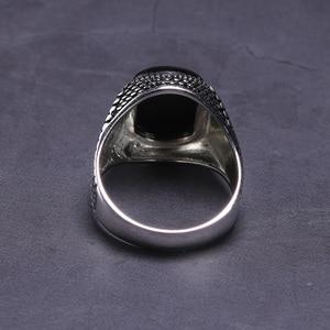 Image 3 - ตุรกีเครื่องประดับสีดำแหวนผู้ชาย น้ำหนัก6G 925เงินสเตอร์ลิงแหวนบุรุษแหวนหินธรรมชาติVintage coolแฟชั่น