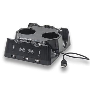 Image 5 - Gamepad Charger Station for PSVR PS4 Base VR handle Controller Stand Holder PS Move Motion Game Joystick Charging Dock for PS