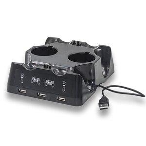 Image 5 - Station de chargeur de manette pour PSVR PS4 Base VR poignée support de support de contrôleur PS déplacer le jeu de mouvement Joystick Station de charge pour PS