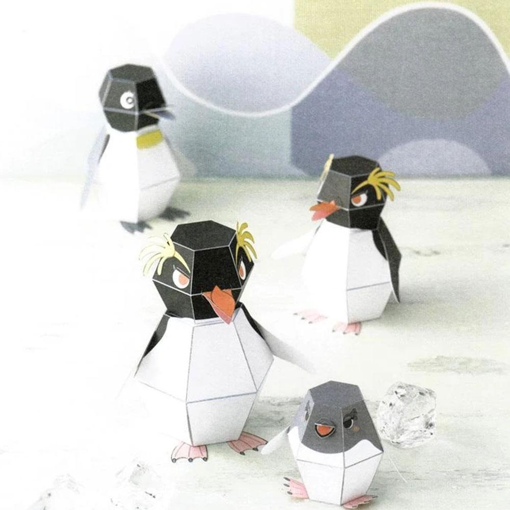 DIY creativo pingüino de rebote Origami modelo hecho a mano niños juguete Animal juguetes papel educativo plegable DIY artesanía Orna W5B2 Pintura de diamante ZOOYA, imágenes de mosaico de bordado de diamantes redondos, 5d pegatinas de pared, artesanías de mariposa, Ángel, Luna, regalos R285