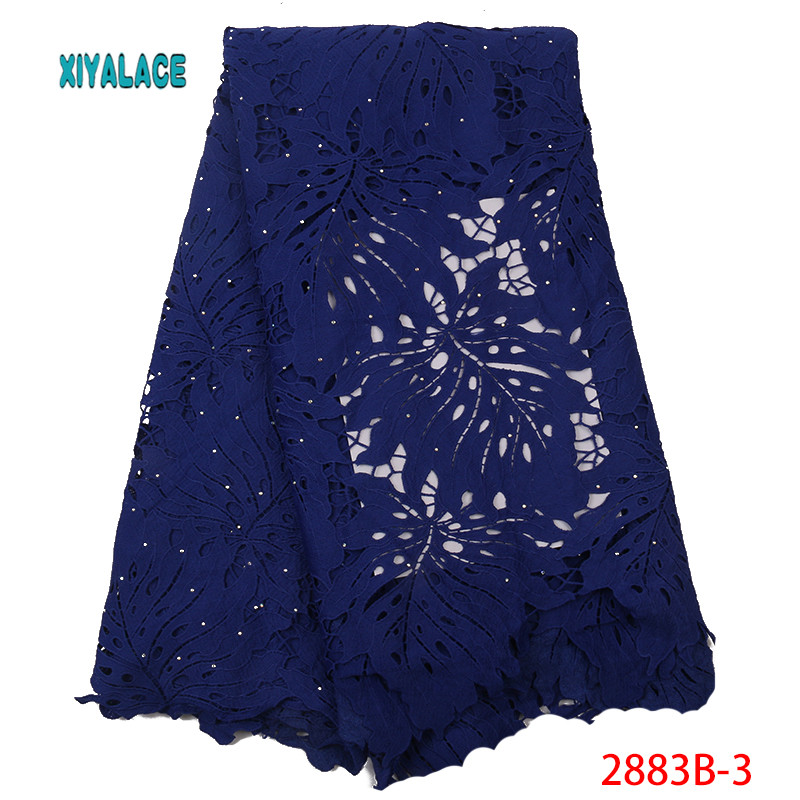 Latest Black Color African Lace Fabric With Beads 2019 High Quality French Tulle Lace Cord And Guipure Lace Fabric YA2883B-3